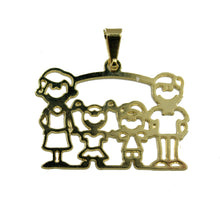 Family Girl and Boy Pendant 18k Gold Plated Pendant with 20 Inch Chain - Family