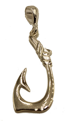 Hawaiian Fish Hook Pendant .925 Sterling Silver Fish Hook Charm Sterling Silver