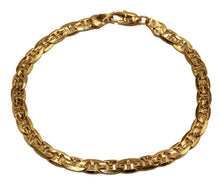 Flat Marina Link 5mm Wide 18k Gold Plated Chain - Flat Marina Link Chain