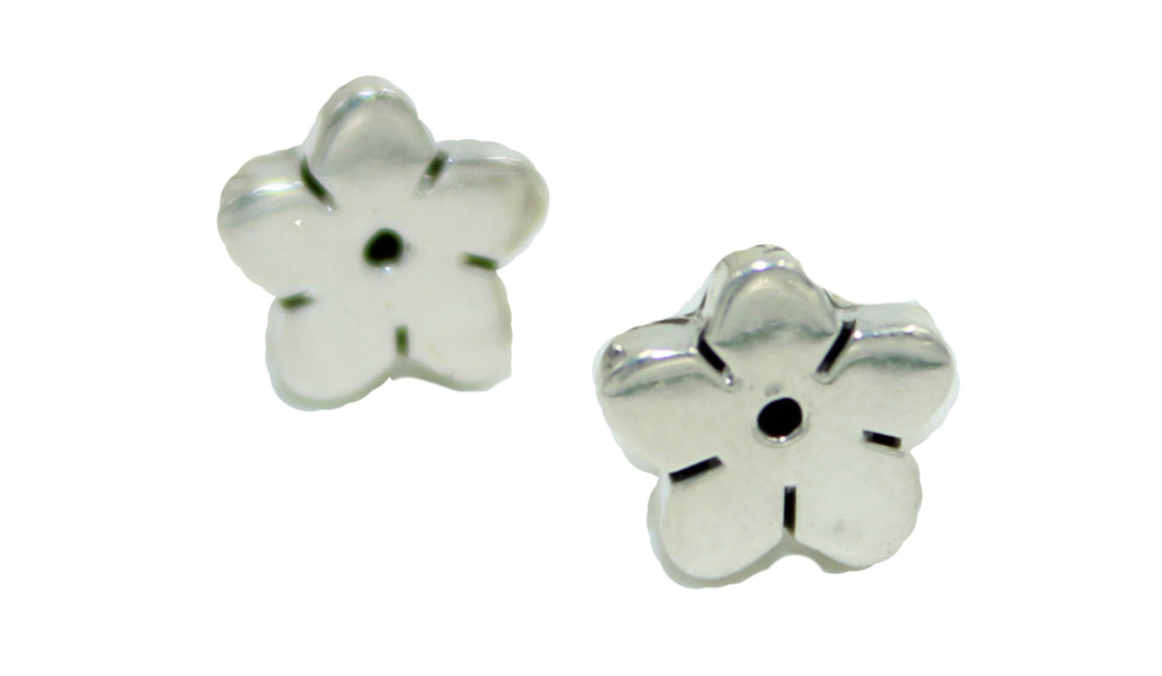 Flower Stud Earrings .925 Sterling Silver - Flower Silver Taxco Mexico