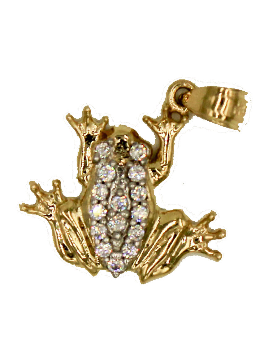 Frog Pendant 14k Solid Yellow Gold Pendant - Frog 14k Gold Pendant
