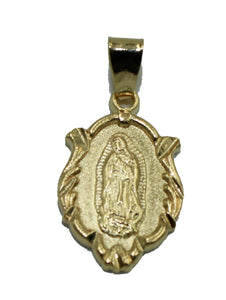 Virgen de Guadalupe Medal 18K Gold Plated with 20 inch Chain - Guadalupe Medal
