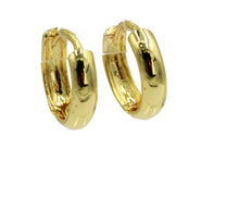 1/2 inch Huggie x 3mm Hoops 18k Gold Plated - Round Small 18k Gold Plated Huggie