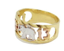 Lucky 7 Talisman Good Luck Ring 18k Gold Plated Size 7 & 10 - Good Luck Ring