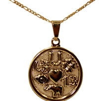 Lucky 7 Talisman Good Luck Pendant 18k Gold Plated Good Luck with 20 inch Chain