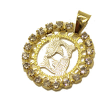 Pisces Charm Pendant 18k Gold Plated with 20 inch Chain
