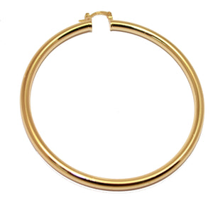 Round  Hoops 2 6/8 inch  Width 4mm 18k Gold Plated Huggies  - Round Hoops 70mm X 4mm