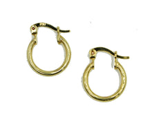 Hoops Earrings 15mm X 2mm Shinny 18k Gold Plated Hoops - 15mm Hoops 18k Gold