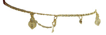 Heart and Key Anklet 18k Gold Plated 10 inch - Enchape De Oro - Heart Key Anklet