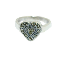 Heart Marcasite Ring .925 Sterling Silver - Heart Marcasite Ring