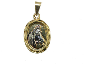 Horse Pendant 18k Gold Plated Pendant with 20 inch Chain - Horse Charm Necklace