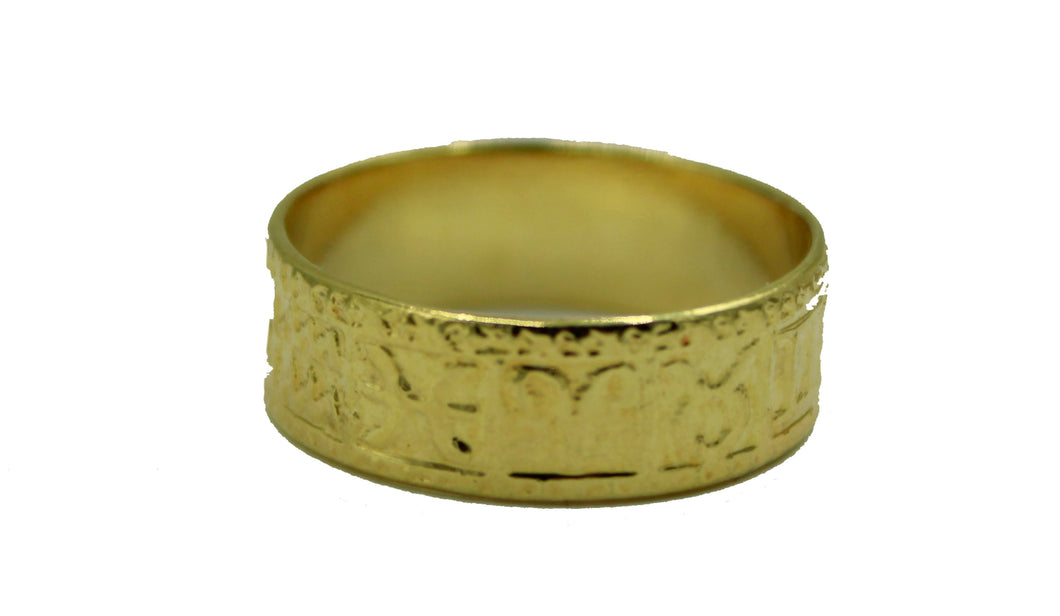 Zodiac Horoscope 12 Astrology Houses -12 Zodiac Signs 18k Gold Plated Ring Band