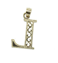 Initial Letter Charm 10k Yellow Gold - Initial10k Yellow Gold Pendant