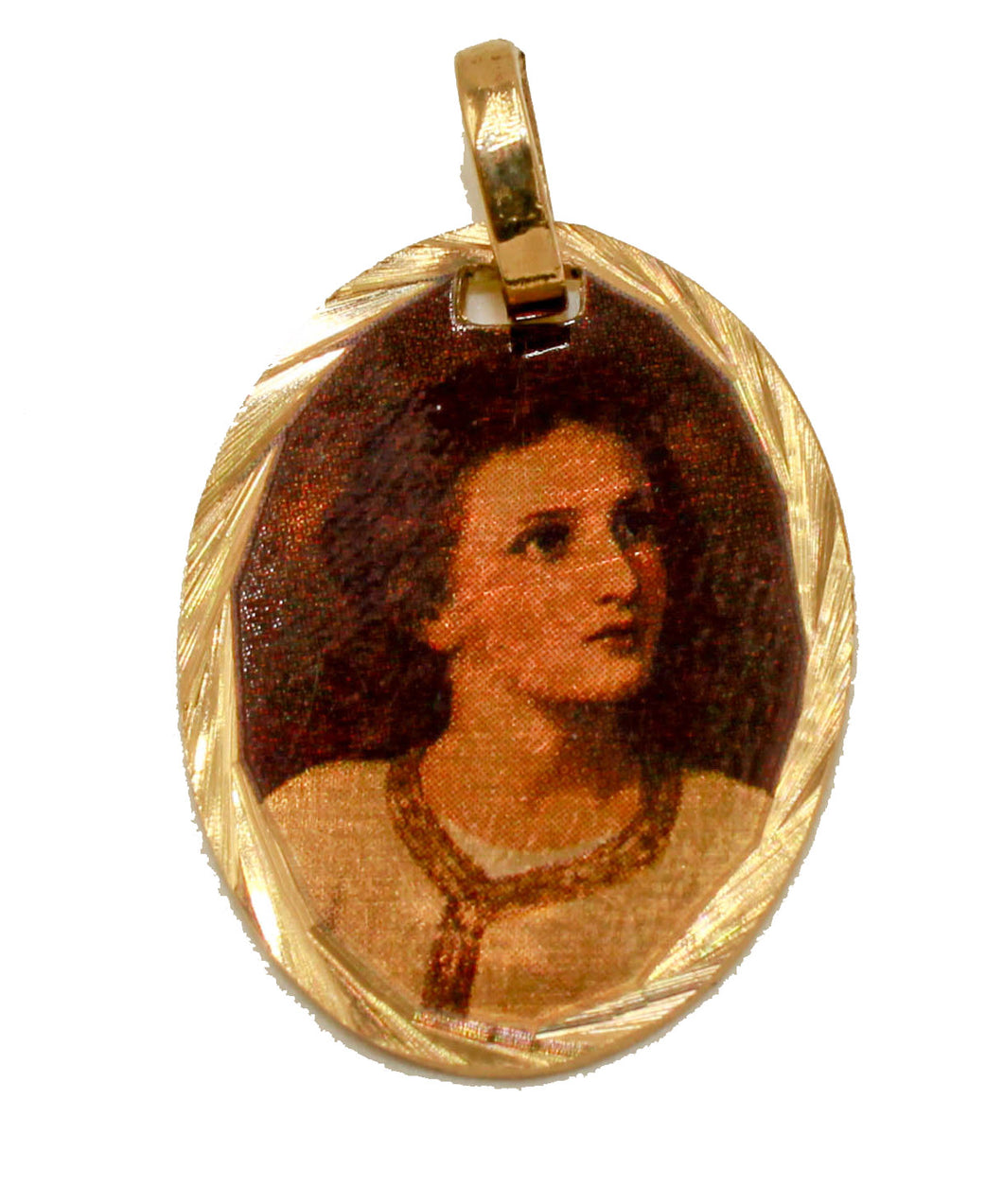 Jesus Joven Medalla - Young Jesus 14k Gold Plated Medal with 18 Inch Chain
