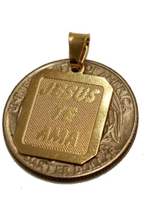Jesus Te Ama Medal with 20 inch Chain - Jesus Medal 18k Gold Plated with 20 inch