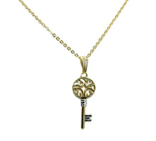 Key Pendant 18k Gold Plated Pendant with 20 Inch Chain - Key Necklace