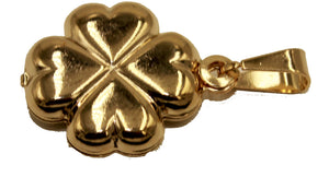Clover 4 Leaf Lucky Pendant 18k Gold Plated with 20 inch Chain - Clover Necklace