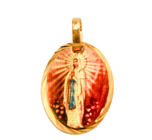 Virgen De Lourdes Medalla - Our Lady of Lourdes Medal 14k Gold Plated with Chain