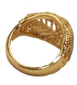 Leaf Three Tone 18k Gold Plated Ring Size 7 , 8 & 9 - Leaf Ring Size 7,8 & 9