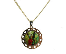 St. Michael Archangel 18k Gold Plated with 20 inch Chain - San Miguel Arcangel Necklace