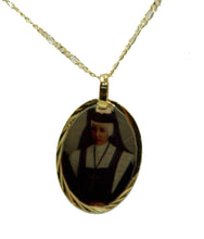 Maria De San Jose Alvarado Medal 14k Gold Plated Medal with 18 Inch Chain