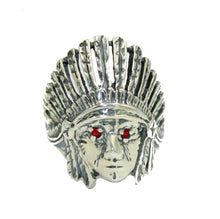 Native American Indian Head Ring .925 Sterling Silver Ring Size 9  to 13