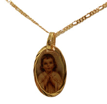 Christ Child Medal 14k Gold Plated Medal with 18 inch Chain - Jesus Child Medal