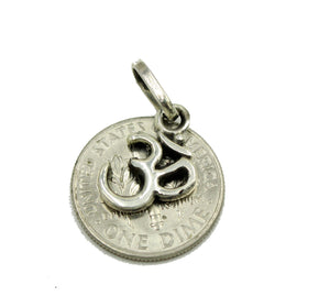 Ohm .925 Sterling Silver Pendant - Hindu Aum Charm Sterling Silver