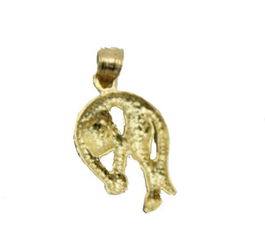 Panther Charm 14k Yellow Gold Pendant - Panther 14k Gold Pendant