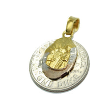 First Communion Mini Medal - Primera Comunion Medalla 18k Gold Plated Medal with 18 Inch Chain