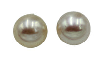 Pearl Ball 7mm Stud Earrings .925 Sterling Silver - Synthetic Pearl Studs