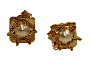 Pearl 5mm Stud Earring 18k Gold Plated Earring - Pearl 5mm Stud Earring