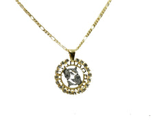 Pisces 18k Gold Plated Charm with 20 inch Chain - Pisces Zodiac Sign Horoscope