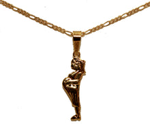 Pregnant Woman Pendant 18k Gold Plated with 20 inch Chain - Pregnancy Necklace