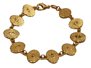 Padre Nuestro Bracelet 18k Gold Plated Religious Bracelet 7 inch - Our Father