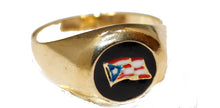 Puerto Rico Flag  18k Gold Plated Ring Different Sizes 9 to 11 - Puerto Rico Flag Ring