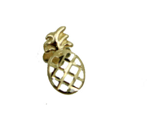 Pineapple 14k Yellow Gold Tragus Earring Cartilage Helix Barbells Auricle Ring