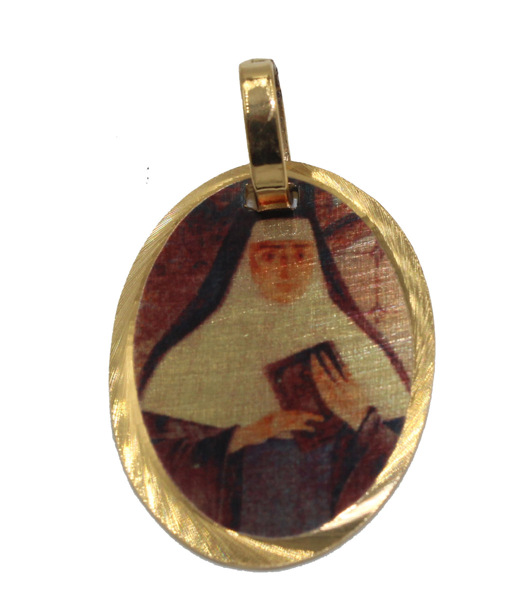 Madre Mariana de San Jose Medal 14k Gold Plated with 18 Chain