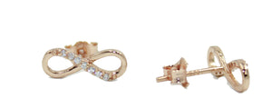 Infinite with Cubic Zirconia .925 Sterling Silver - Silver, Rose Gold & Gold