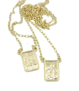 Scapular 18k Gold Plated 24 inch - Escapulario 18k Gold Plated 24 inch