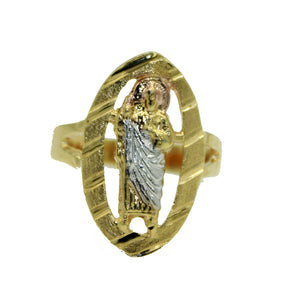 San Judas Tadeo Ring 18k Gold Plated Sizes 8, 9 & 10 - St Jude Thaddeus Ring
