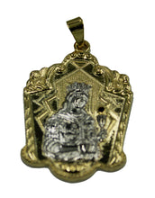 Santa Barbara Medal Two Tone 18k Gold Plated with 22 inch Chain - Sta Barbara