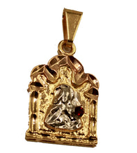 Santa Barbara Pendant 18k Gold Plated with Red Cubic Zirconia and 20 inch Chain