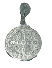 San Benito Two Sided Pendant .925 Sterling Silver - St Benedict Sterling Silver
