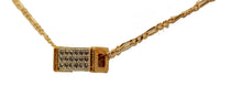 Fashion CZ Square Barrel Pendant 18k Gold Plated Fashion Necklace