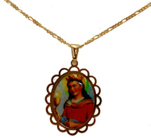 Santa Barbara Pendant 18K Gold Plated Necklace with 20 inch Chain - Sta Barbara