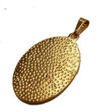 San Benito Abad Oval Medal with 20 inch Chain 18k Gold Plated