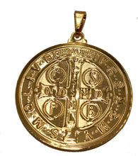 San Benito 18k Gold Plated Pendant with 22 inch Chain- St. Benedictus Medal
