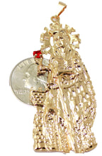 Santa Barbara Pendant with 22 inch Figaro Chain 18k Gold Plated Pendant