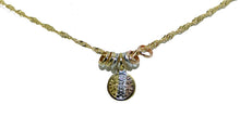 San Benito 3 tone Round Mini Medal Necklace 18K Gold Plated With Chain- Benedict